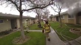 Children rescued from Fresno apartment fire