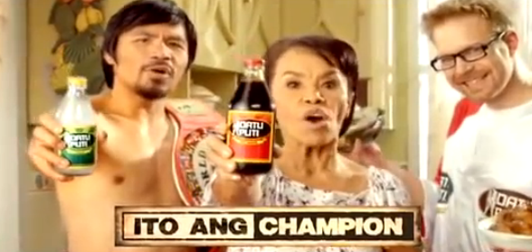 Manny Pacquiao Knocks Out Floyd Mayweather Look-Alike In Spoof Commercial!