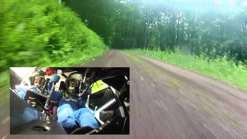 Crazy rally driving!