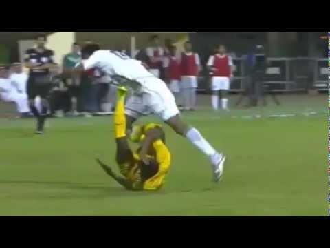 Damn: Saudi Arabian Player Suffers A Horrific Ankle Break!