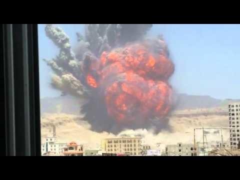 Massive Rocket Explosion near the Capital of Yemen, Sanaa.