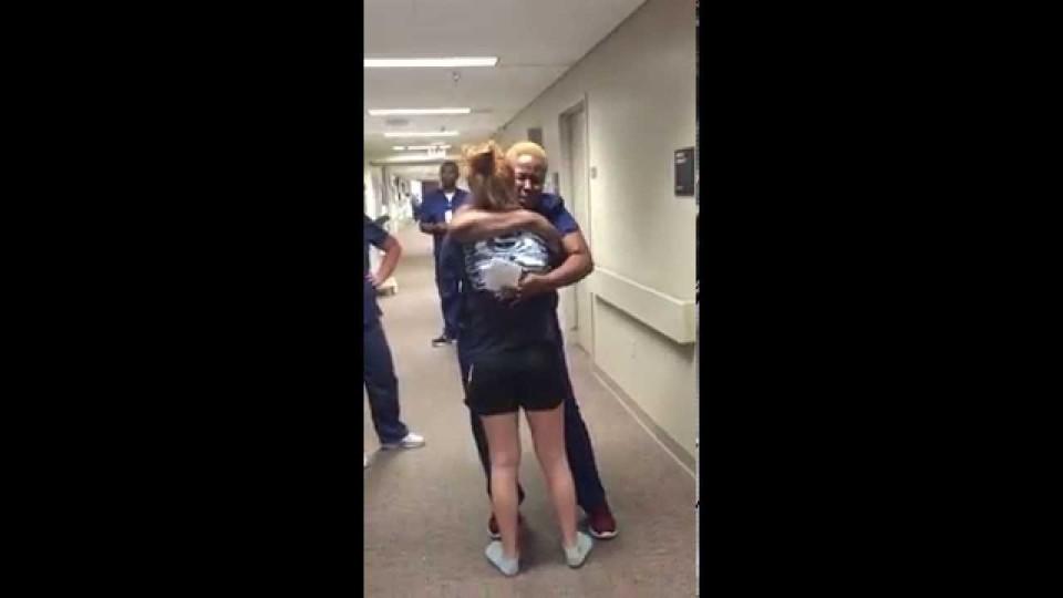 Paralyzed girl surprises her nurse