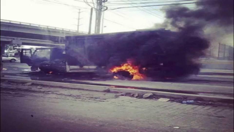 War zone in Reynosa, Mexico yesterday.