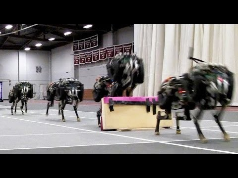 MIT cheetah robot jumps over obstacles while running