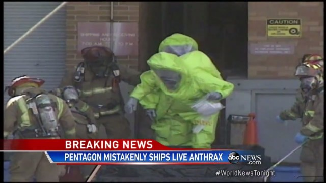 Pentagon sends live Anthrax to 10 labs