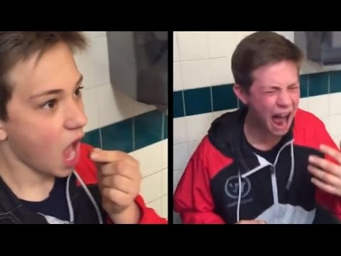 Kid Regrets swallowing bell pepper