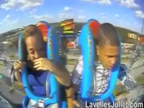 Guy Passes Out On Slingshot Ride!