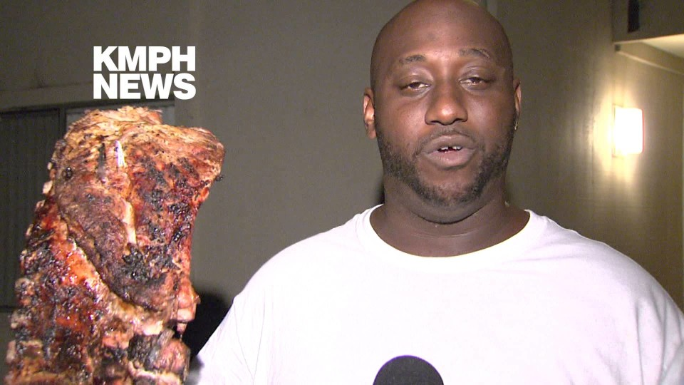 Man saves his BBQ ribs from an apartment fire