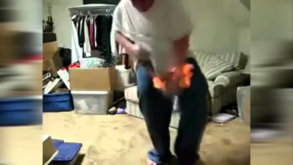 Kid Dancing On Fire