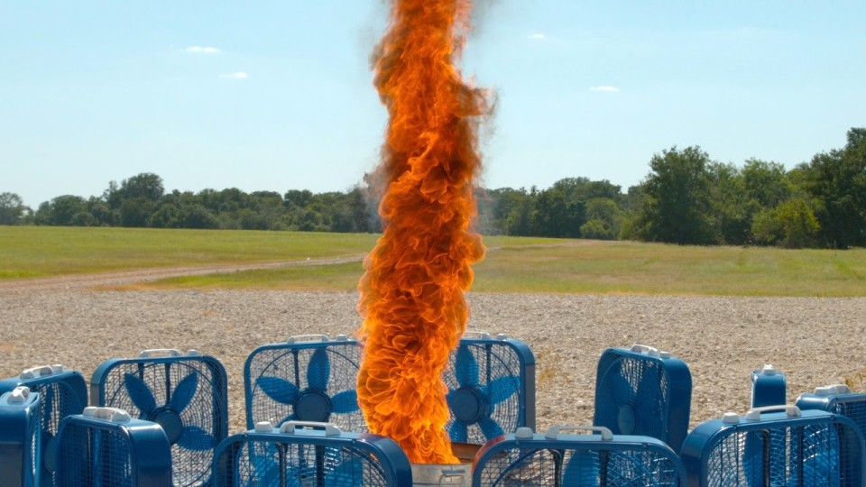 Slow Motion Fire Tornado